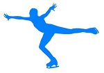 Ice Skater Silhouette v2 Decal Sticker
